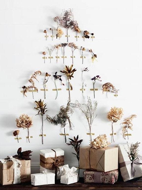 sapin de noel floral fleurs séchées facile éthique écolo