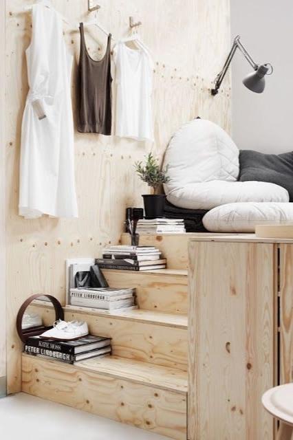 escalier bois brut sur mesure slow life style design