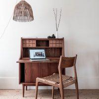bureau secretaire vintage design scandinavian