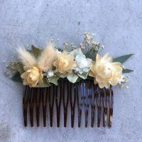 pince cheveux mariage fleurs séchées locales made in france bordeaux