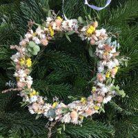 couronne fleurs séchées campagne